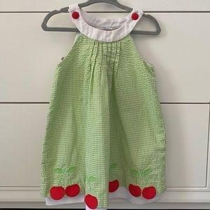 Florence Eiseman Cherry Appliqué Yoke Neck Dress